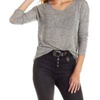 Scoop Neck Hacci Top by Charlotte Russe