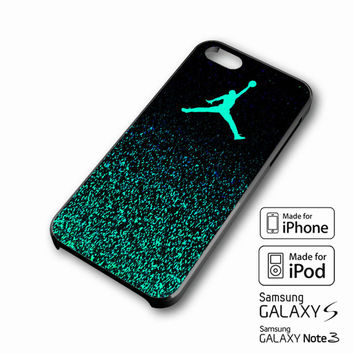Nike Air Jordan Jump Mint Glitter iPhone case 4/4s, 5S, 5C, 6, 6 +, Samsung Galaxy case S3, S4, S5, Galaxy Note Case 2,3,4, iPod Touch case 4th, 5th, HTC One Case M7/M8