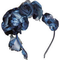 Velvet Flower Garlands - Navy Blue