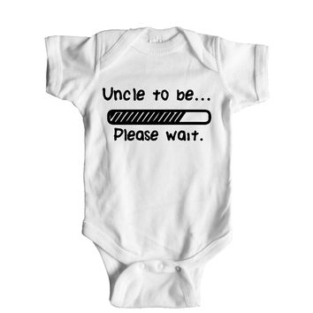 Uncle To Be Please Wait Baby Onesuit
