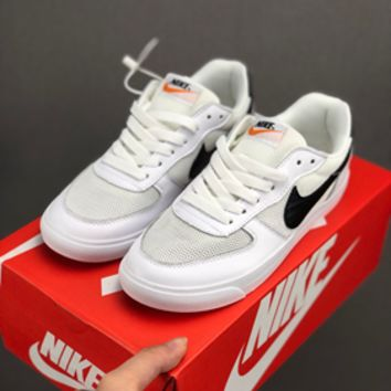 HCXX 19July 625 Nike BLAZER LOW Mesh Breathable Retro Board Shoes white black