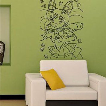 Sailor Moon Cartoon Anime Girl Wall Art Sticker Decal M70
