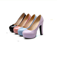 Shoes Female Sweet Plateau Individuality Young Gril Round Toe Leisure Hot Selling Anti Slip Performance High Quality Heels