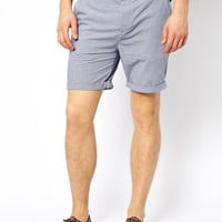 ASOS Chino Shorts In Check With Belt