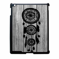 Hipster Vintage Black Dreamcatcher On Gray Wood iPad 3 Case