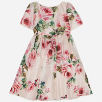 Girls' Dresses - New Collection | Dolce&Gabbana - SILK DRESS