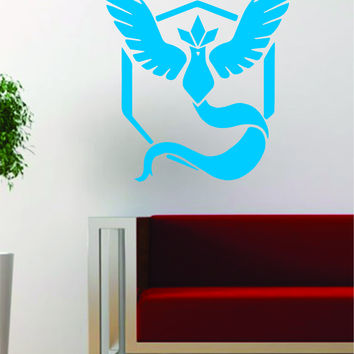 Pokemon Go Team Mystic Logo Game Gamer Design Decal Sticker Wall Vinyl Art Decor Home