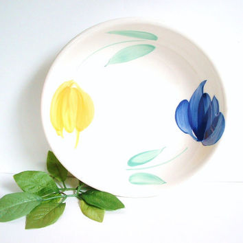 Vintage Italy Ceramic Bowl Italian Pottery Hand Painted Flowers
