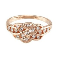 FM42 Pave Clear Crystal Hollowed-out Women's Ring R49
