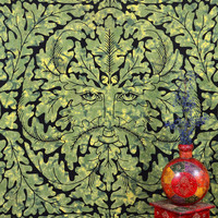 Tapestry Meditation Printed Green Indian Cotton Wall Hanging Home Decor Art 94 x 80 Inches