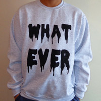 Whatever Sweater by LUNCCHB0XX on Etsy