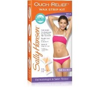 Sally Hansen Ouch Relief Wax Strips for Body, 32 Count