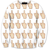 Middle Finger Emoji Crewneck Fashion Clothing Jogger Casual Sweatshirts