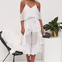 Youthful Beauty Culotte Jumpsuit (White) 🌟