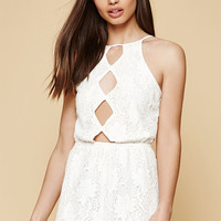 Kendall and Kylie Lace High Neck Cutout Romper at PacSun.com
