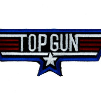 Top Gun Movie Patch Iron On Applique Alternative Clothing 80's
