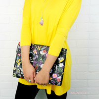 Whimsical Gardens Floral Spring Clutch