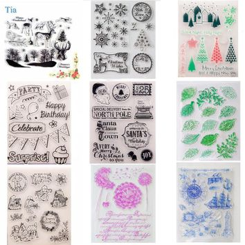 Stamp Sea animal vintage travel Stamp transparent halloween Clear stamps Christmas seal for DIY Scrapbooking Decorative 14*18cm