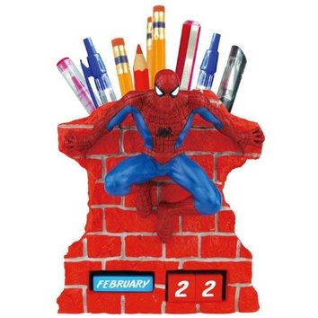 Spider-Man Perpetual Calendar with Pen/Pencil Holder
