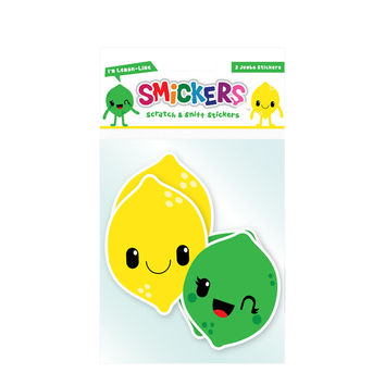 Jumbo Scratch and Sniff Lemon-Lime Sticker