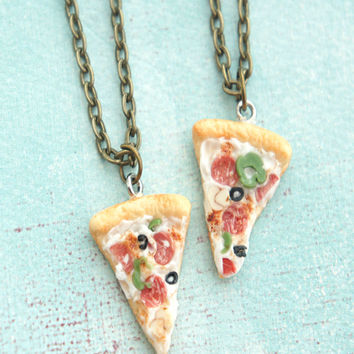 supreme pizza friendship necklaces