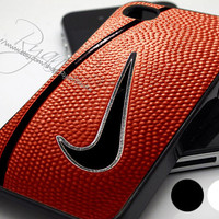 Nike Basketball Logo Print - Print Hard Case - iPhone 4/4s Case - iPhone 5 Case - iPod 4 / 5 - Black - White (Option Please)