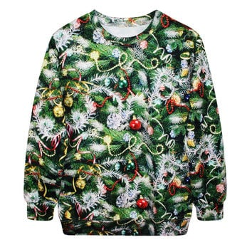 Casual Hoodies Print Ugly Christmas Sweater Christmas Costume [9440724356]