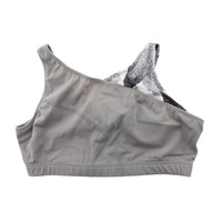 Zumba Womens Mesh Asymmetrical Sports Bra