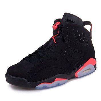 "air.jordan Mens Air Jordan 6 Retro ""Infrared"" Suede Basketball Shoes 384664-023  jordans air shoe"