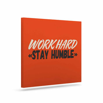 "Juan Paolo ""Work Hard Stay Humble"" Digital Vintage Canvas Art"