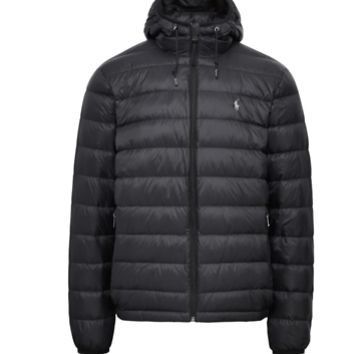POLO RALPH LAUREN Black Packable Down Jacket Outdoor Menswear Mens Size Small a1