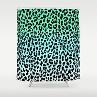 Cool Leopard Shower Curtain by M Studio