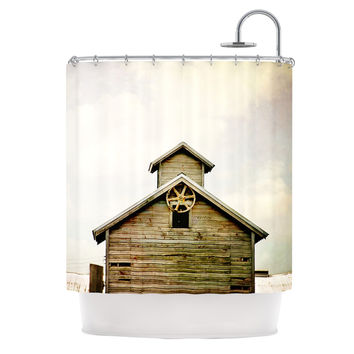 """Angie Turner """"Barn Top"""" Wooden Shower Curtain"""