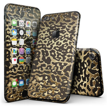 Dark Gold Flaked Animal v1 - 4-Piece Skin Kit for the iPhone 7 or 7 Plus