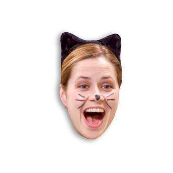 Pam Beesly as a Cat Magnet - Michael Scott Dwight Schrute - The Office TV Show Magnet - Jim and Pam Best friend magnets