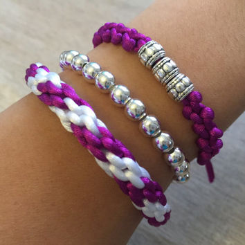 Arm Candy, Purple Bracelets, Bracelet Set, Arm Party, Armband, Gift for her, Friendship Bracelets, Macrame Jewelry