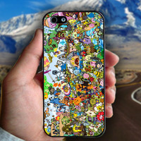 Adventure Time Inspired All Characters - Print on hard plastic case for iPhone case. Select an option