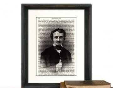 Edgar Allan Poe Art Print Portrait .. on Luulla