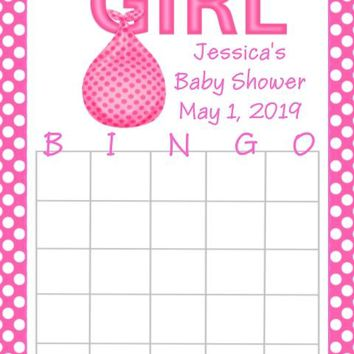 10 It's A Girl Baby Shower Bingo Cards