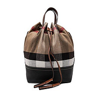 Burberry Women's Canvas Check Bucket Bag Tan