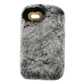 Gary Luxury Design Cute Rabbit Fur Phone Case Fashionable Fluffy Warm Mobile Phone Protective Case Cover Suitable for iPhone