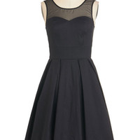 LBD Long Sleeveless Fit & Flare Lights, Glamour, Action! Dress