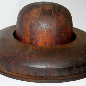 Antique National Chicago Derby Hat Mold, Hat Form