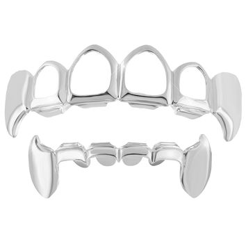 Grillz Top Bottom Set White Finish Sale