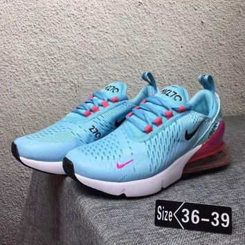 """""""NIKE"""" Trending Fashion Casual Sports Shoes Contrast Sneakers Blue"""