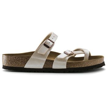 Birkenstock Mayari Birko Flor Graceful Pearl White 71661 Sandals - Ready Stock