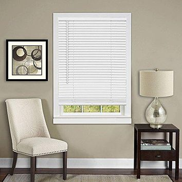 Anochecer Collection Set of 6 Cordless Vinyl 1-Inch Room Darkening Mini Blinds- Pearl White - 23 inch  x 64 inch  (Actual Measurement 22.5 inch  x 64 inch )
