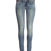 H&M - Super Skinny Super Low Jeans - Light denim blue - Ladies