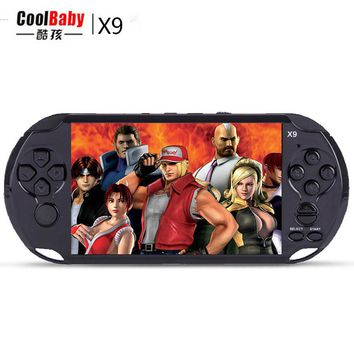 "New 8GB 5.0"" Large Screen Handheld Game Consoles Built-in 300 Classic Games With MP3/ Movie Camera Adult Vedio Games Console"