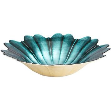 Teal Flower Bowl